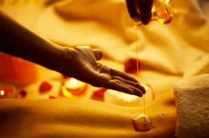 ätherische Öle für eine Massage